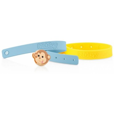 Nuby All Natural Mosquito Repellent Bracelet 2pcs - Monkey