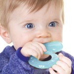 Nuby Comfort Silicone Teethe-Eez Teether with Teething Bristles - Blue 3m+