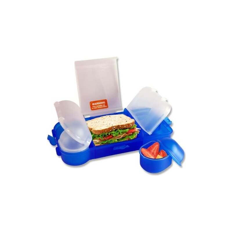 Nude Food Movers Rubbish Free Lunchbox - Blue-5866