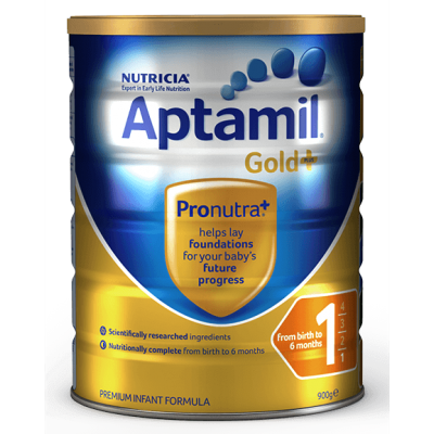 Aptamil Nutricia  Gold+ Infant Formula 1 (From Birth to 6 Months) - 900g