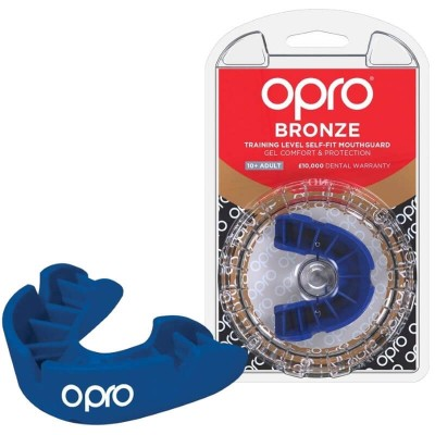 OPRO Bronze Self-Fit Mouthguard (10 years to Adult) - Blue
