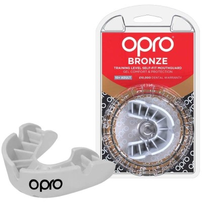 OPRO Bronze Self-Fit Mouthguard (10 years to Adult) - White