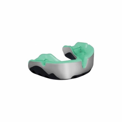 OPRO Platinum Mouthguard 7+ Adult Pearl/Black/Mint