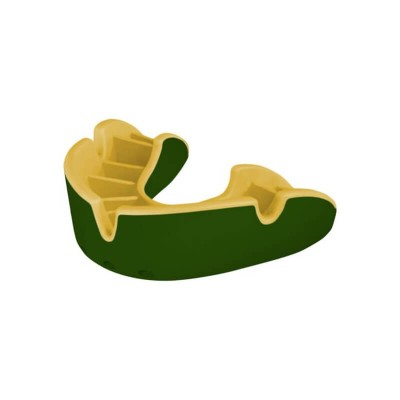 OPRO Silver Mouthguard 10+ Adult - Green/Gold