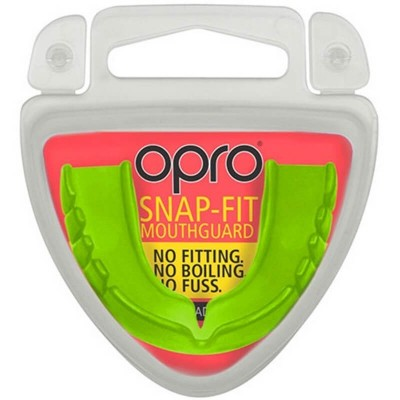 OPRO Snap-Fit ADULT Mouthguard (11 years to Adult) - Green