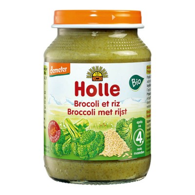 Holle Organic Broccoli with Rice 190g (4 mos+)