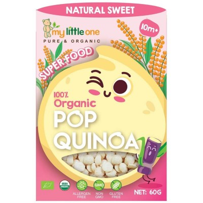 My Little One Organic Pop Quinoa Natural Sweet 60g (10 mos+)
