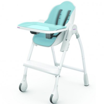 Oribel Cocoon 3-Stage High Chair - Blueberry Marshmallow (6months to 3years)