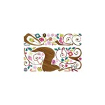 RoomMates Ornamental Reindeer Giant Wall Decals