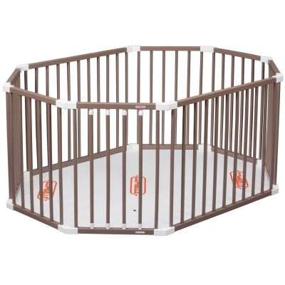 Combelle Oval Playpen - Chocolate