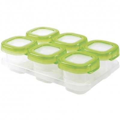 OXO Tot Baby Blocks Freezer Storage Containers - Green 2oz
