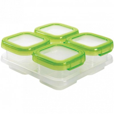 OXO Tot Baby Blocks Freezer Storage Containers - Green 4oz