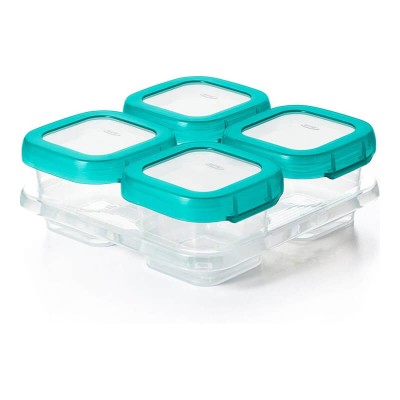 OXO Tot Baby Blocks Freezer Storage Containers - Teal 4oz