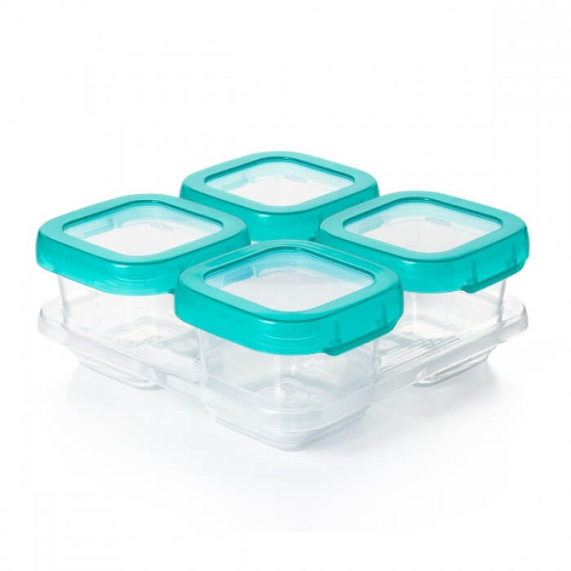 Oxo Tot Baby Blocks Freezer Storage Containers Teal 6oz