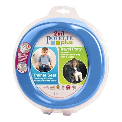Parents League Potette Plus 2-in-1 Foldable Potty - Blue