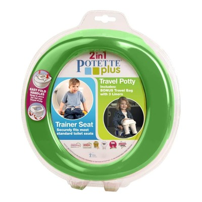 Parents League Potette Plus 2-in-1 Foldable Potty - Green