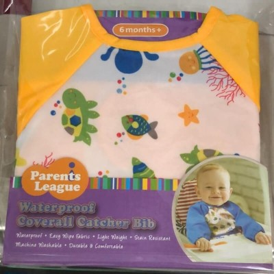 Parents League Waterproof Coverall Catcher Bib - Yellow