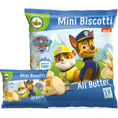 Appy Kids Co. Paw Patrol All Butter Mini Biscotti 5 x 20g