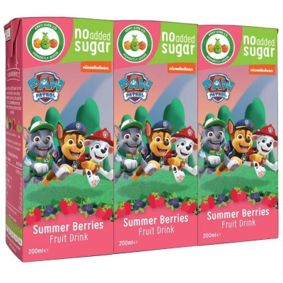 Appy Kids Co. Paw Patrol Summer Berries Fruit Drink 3 x 200ml
