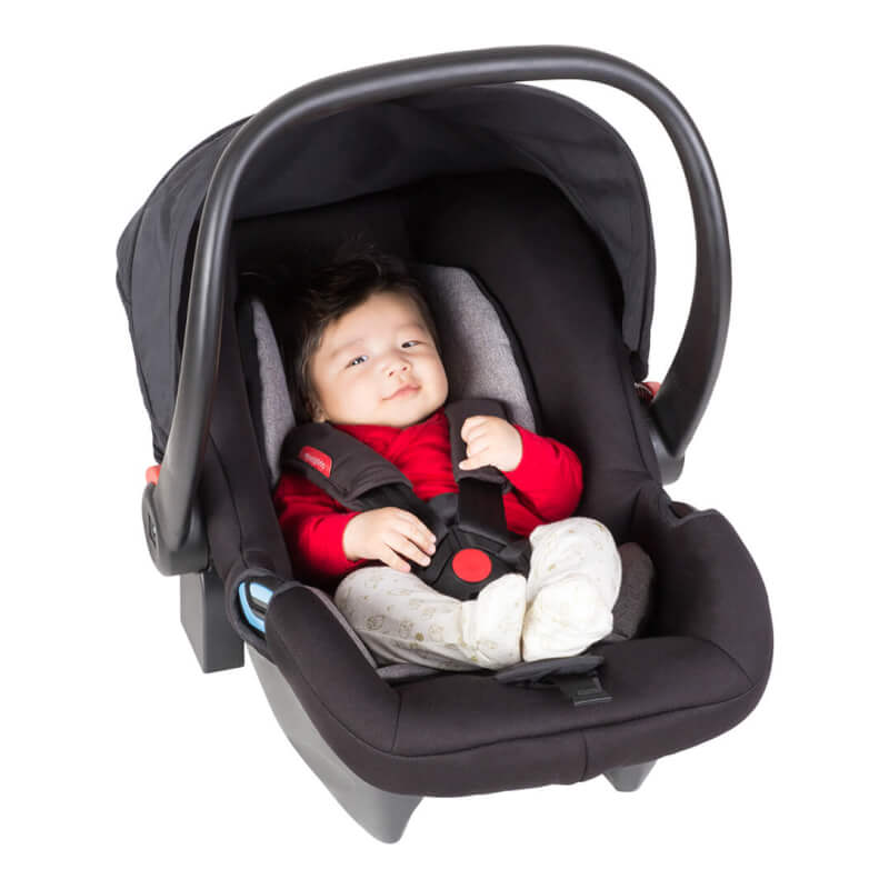 Phil Teds Alpha Baby Car Seat Black Grey Marl