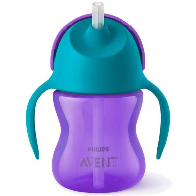 Philips Avent Straw Cup 200ml (9mos+) - Purple