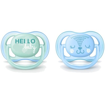 Philips Avent Ultra Air Soother 0-6mos - Green/Blue