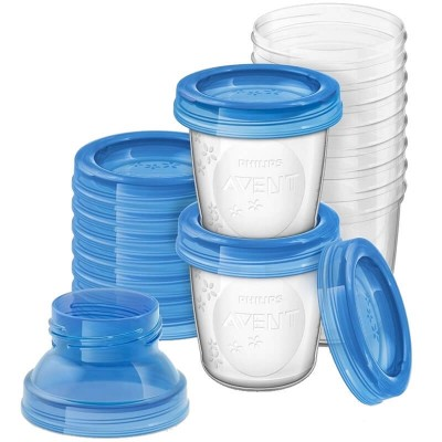 Philips Avent Breast Milk Storage Cups 180ml (10 Pack)