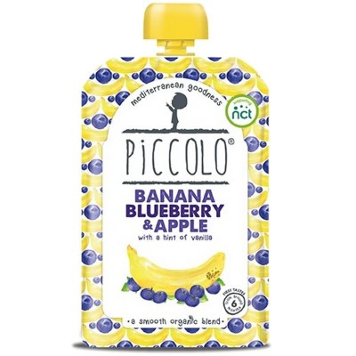 Piccolo Banana, Blueberry & Apple with a Hint of Vanilla 100g (6mos+)