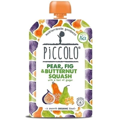 Piccolo Pear, Fig & Butternut Squash with a Hint of Ginger 100g (6mos+)