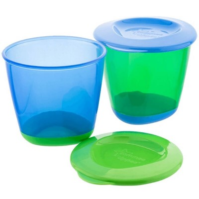 Tommee Tippee Pop Up Weaning Pots (2 x 120ml) 4m+ - Blue/Green