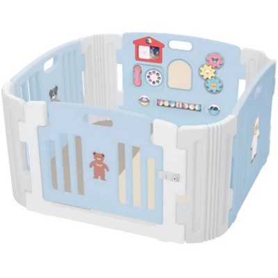 Haenim Toy Signature Baby Room and Play Mat Set - Pastel Blue (116 x 116 x 60 cm)