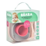 Beaba Silicone Suction Meal Set - Pink
