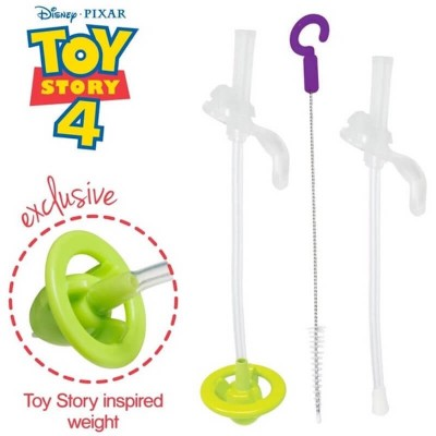 b.box Sippy Cup - Disney Replacement Straw and Cleansing Set - Green/Buzz