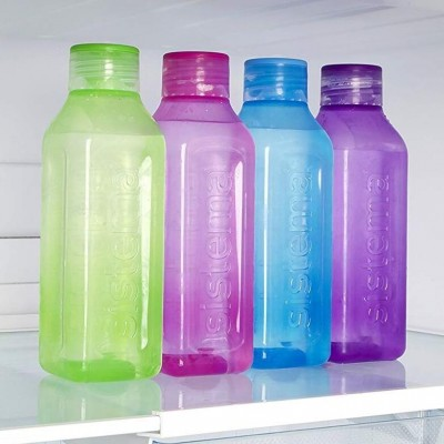 Sistema Square Bottle 475ml (color may vary: Blue/Green/Pink/Purple/Black/Orange)