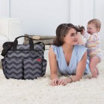 Skip Hop Duo Signature Diaper Bag - Tonal Chevron