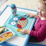 Skip Hop Zoo Fold & Go Silicone Kids Placemat - Owl