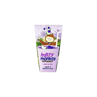 Happy Monkey Smoothies - Apple & Blackcurrant 180ml