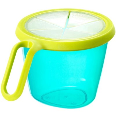 Tommee Tippee Snack N Go Pot 12m+ - Turquoise/Yellow