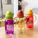 Snapkis My First Straw Water Bottle - Dog 350ml