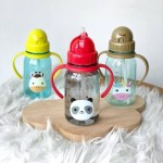 Snapkis My First Straw Water Bottle - Panda 350ml