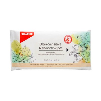 Snapkis Ultra-Sensitive Newborn Wipes 12s