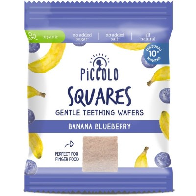 Piccolo Squares Gentle Teething Wafers Banana & Blueberry 20g (10mos+)