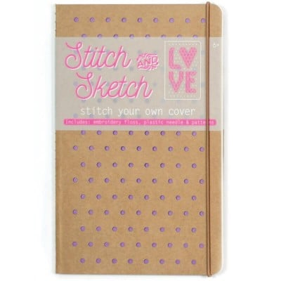 Ooly Stitch & Sketch Notebook – Purple