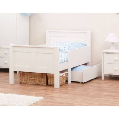 Stompa Classic Kids Starter Bed & Single Drawer & Foam Mattress