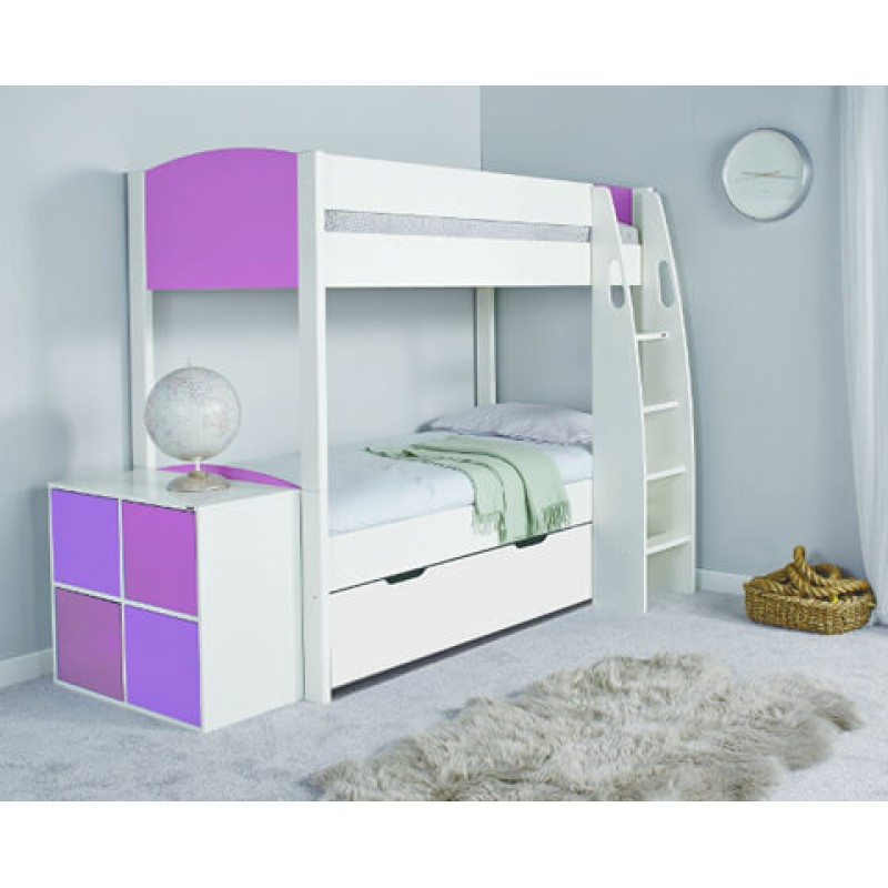 Stompa Uno S Detachable Bunk Bed Drawer With Pink Headboard