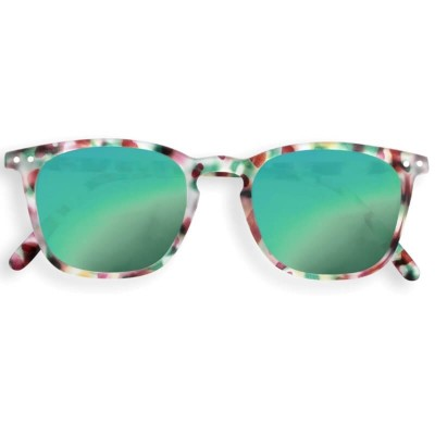 IZIPIZI SUN Junior #E Green Tortoise, Soft Green Mirrored Lenses (3-10years)
