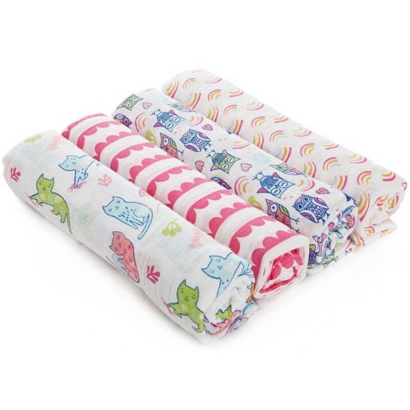 aden + anais Swaddle Plus 4-Pack - Wise Owl   Baby Central HK