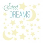 RoomMates Sweet Dreams Glow in the Dark Peel and Stick Wall Decals