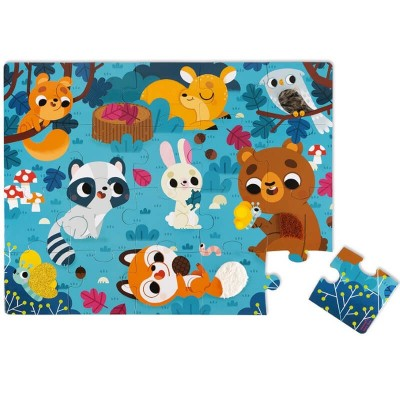 Janod Tactile Puzzle - Forest Animals (20 Pieces)