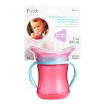 The First Years Teethe-Around Trainer Cup 7oz/207ml - Pink